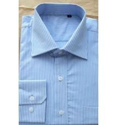 Camisa azul, social, manga longa, 100% algodão, cod 855