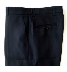 Calça extra-grande preta da linha social, em tecido 100% poliéster, cód 1248