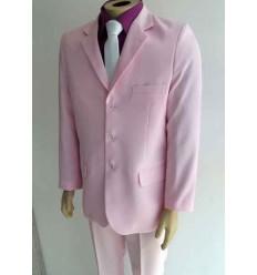 Terno rosa, corte tradicional, 3 botões, cód 1364