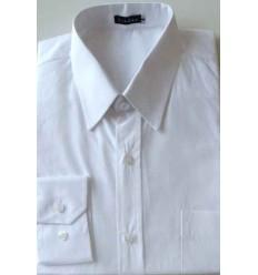 Camisa branca, 100% algodão, manga longa, colarinho italiano, cód 1420