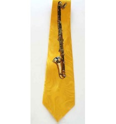 Gravata amarela, instumento musical, cód 961SX