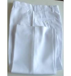 Calça branca, social, em microfibra gabardine, cod 1380
