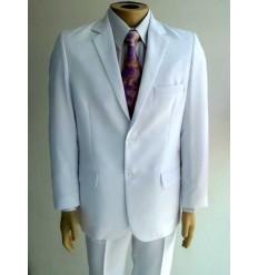 Terno branco, 2 botões, corte tradicional, cód 1426