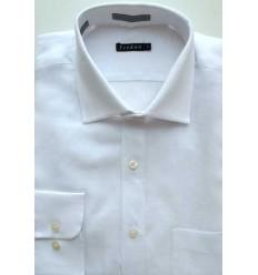 Camisa de linho, manga longa, branca, cód 1494