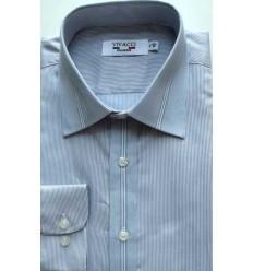 Camisa cinza, passa fácil, modelo manga longa,  cód 1423C