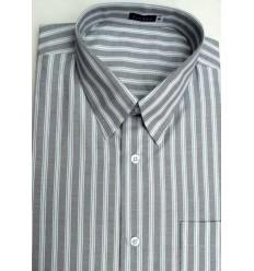 Camisa manga curta, extra grande, passa fácil, listrada 45% algodão e 55% de poliéster, Cód 1463MB