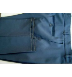 Calça social masculina, cinza, em microfibra oxford. Cod 1187