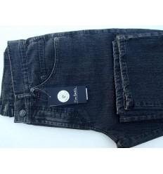 Calça pierre cardin, jeans na cor grafite, em de algodão com elastano, cod 1518