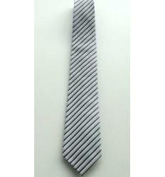 Gravata cinza, longa em poliester de ótima qualidade. cod 374-BF