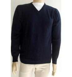 Blusa azul escuro em lã acrilica, super macia e antialérgica, cód 1168