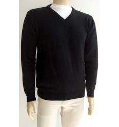 Blusa preta em lã acrilica, super macia e antialérgica, cód 1168