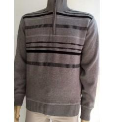 Blusa em tecido soft, gola alta, cor marrom e ótima qualidade, cód. 1376