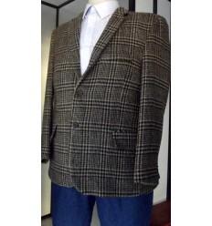Blazer EXTRA GRANDE, em tecido 100% de lã grossa com gramatura 570, cor xadrez, cod. blzx