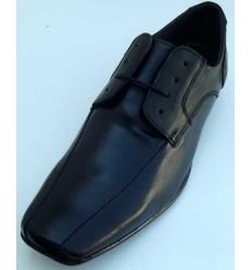 Sapato social, preto de couro com cadarço e solado antiderrapante, cód  1469CC - Ref 4018