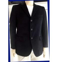 Blazer de veludo, 100% de algodão, preto, corte italiano, cód 248
