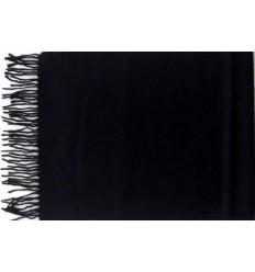 Cachecol preto em tecido macio 100% acrílico, anti-alérgico, cod 1447