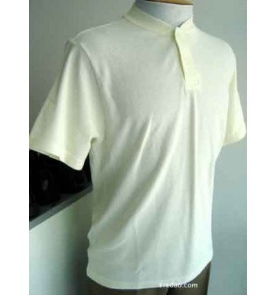 Camiseta gola portuguesa, cor beje, cód 870