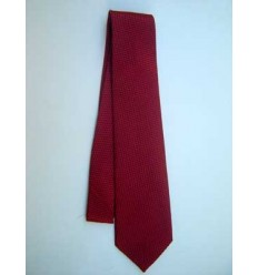 Gravata de jacquard de seda, vinho  - cód. 318D