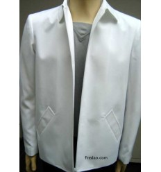 Jaqueta branca, caban em microfibra oxford, cód 1067