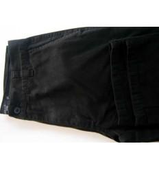 Calça esporte fino, preta, 100% de algodão. Cód 1084