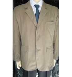 Blazer esporte fino, 2 botões, de algodão, cor kaki, cod 1260