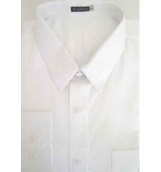 Camisa 100% algodão, fio 100, cor branca, cod. 991BC