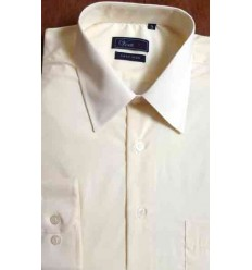 Camisa manga longa, passa fácil, cor creme, cod. 996