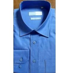 Camisa manga longa, passa fácil, cor azul, cod 645