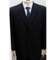 Terno preto de cassimira, extra grande, modelo tradicional de três botões, cod 941