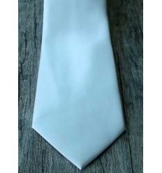 Gravata branca, tradicional lomga com design moderno, cód 961BC