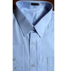 Camisa Extra Grande de algodão, fio 100, cor azul de ótima qualidade, cód. 991A