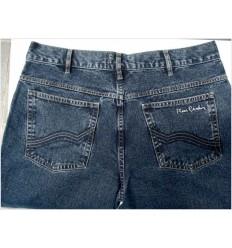 Calça de grife famosa, jeans, Pierre Cardin, azul,  cód 1213