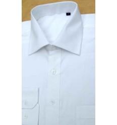 Camisa branca manga longa  em tecido magnetado, 100% algodão, cód 852