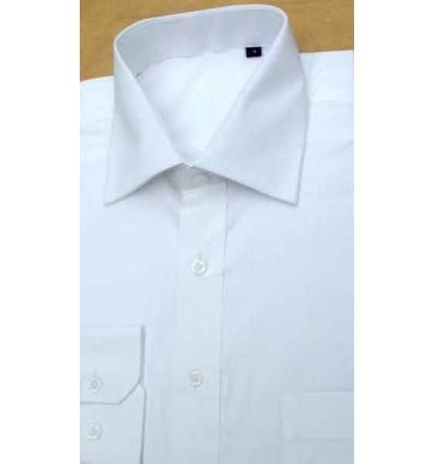 Camisa branca manga longa  em tecido magnetado, 100% algodão, cód 852 Entrega imediata