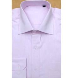 Camisa rosa manga longa  em tecido magnetado, 100% algodão, cód 852