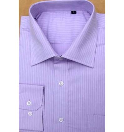 Camisa lilás magnetada, manga longa, 100% algodão, cod 852