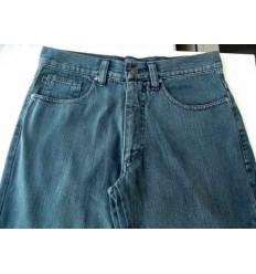 Calca jeans tradicional, cor grafite, coleção extra-grande de algodão.  Ref  983