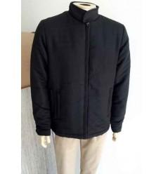 Jaqueta preta em tecido grosso de algodão com otima qualidade, cód 447