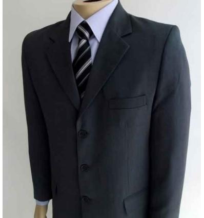 Terno extra-grande cinza, corte italiano da coleção plus size, Ref.  941 Entrega imediata