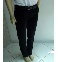 Calça esporte fino, preta, 100% algodão, tradicional, cod 1438