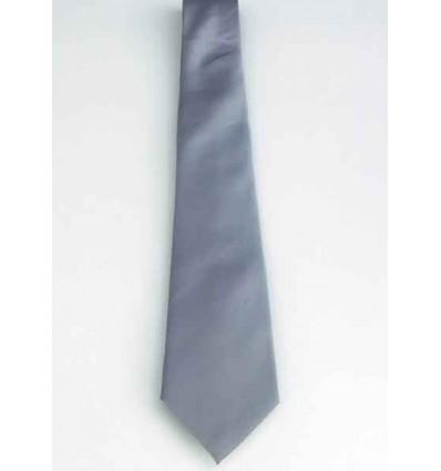 Gravata prata, tradicional longa em poliéster de ótima qualidade, cód 1338PTC