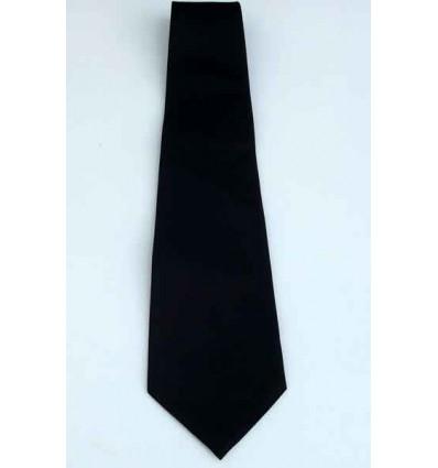 Gravata preta  tradicional longa em tecido de poliéster de excelente qualidade, Cód, 1338P