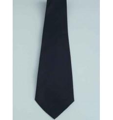 Gravata azul escuro, tradicional longa de poliéster, ref. 1338AZ