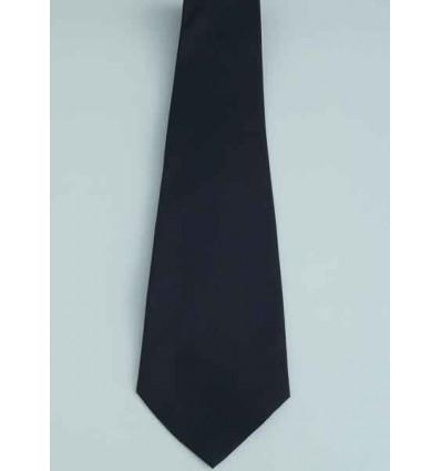 Gravata azul escuro, tradicional longa de poliéster, ref. 1338AZ Entrega imediata