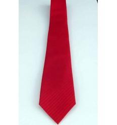 Gravata vermelha, com detalhe diagonal, modelo tradicional longo, cód 374DD