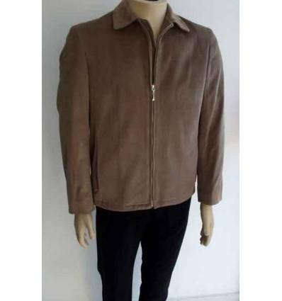 Jaqueta bege escuro em tecido de veludo de algodão. Coleção e design esporte fino, cod 61 Entrega imediata com todas garanti