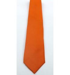 Gravata de jacquard, cor laranja, modelo longo tradicional de ótima qualidade. Cód 1338