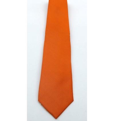 Gravata de jacquard, cor laranja, modelo longo tradicional de ótima qualidade. Cód 1338 Entrega imediata com todas garantias
