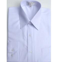 Camisa branca em tecido de panamá passa fácil, manga longa, cód 1019