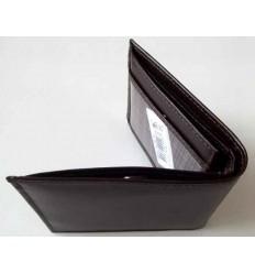 Carteira em couro para documentos e dinheiro, cor marrom, cód. 1451